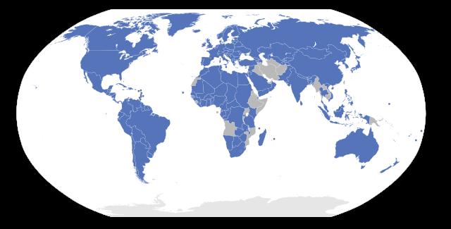 Signataires de la convention de Berne (en bleu).
